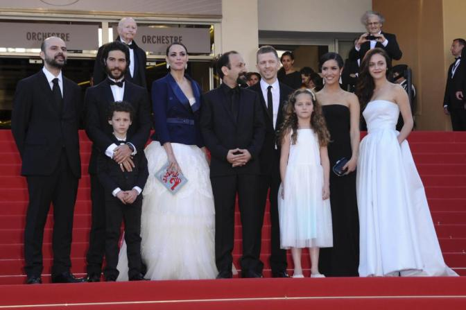 L'équipe du film Le Passé à Cannes, vendredi soir.