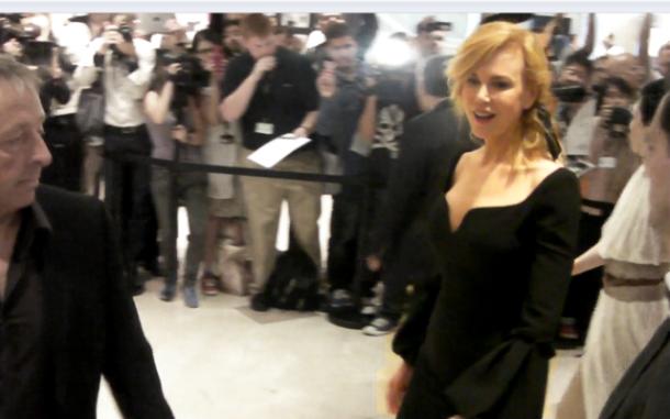 Nicole Kidman à la sortie de la conférence de presse, hier à Cannes