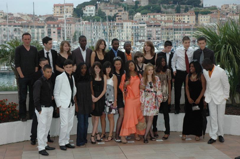 L'équipe d'Entre les murs, à Cannes, pour une photo  ... de classe !