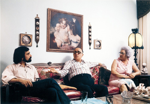 Martin Scorsese et ses parents, Charles et Catherine.