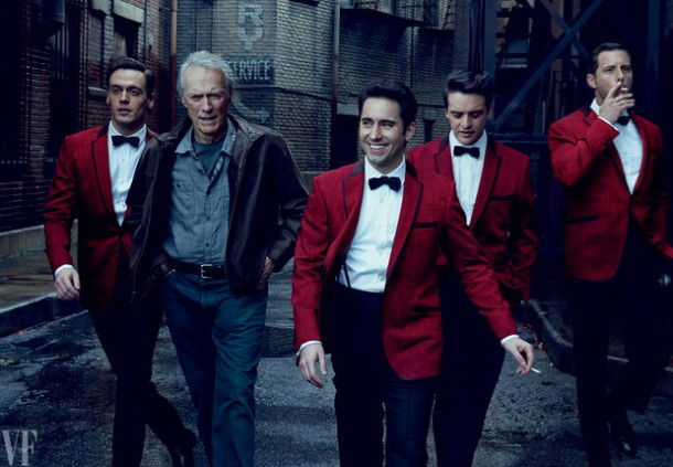 Jersey Boys cast and clint eastwood