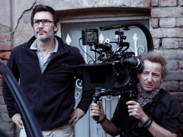 Michel Hazanavicius et le directeur de la photo Guillaume Schiffman