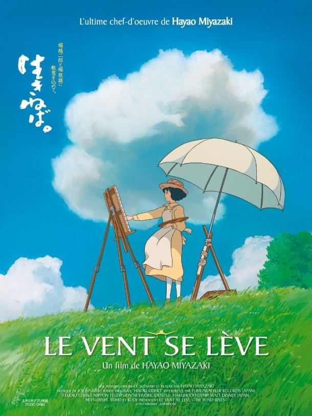 Affiche du film Le Vent se Lève, d'Hayao Miyazaki